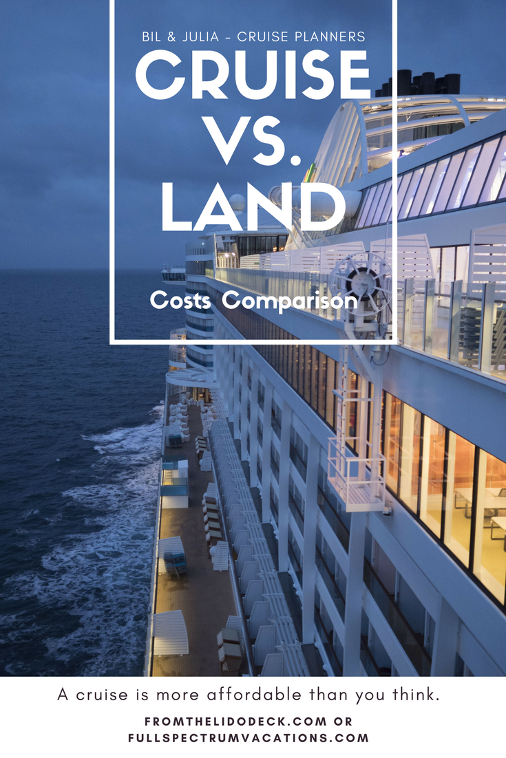 cruise vs land vacation comparison